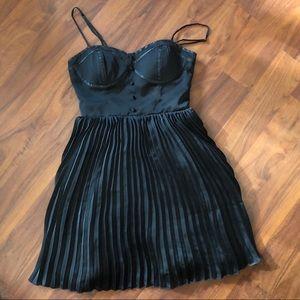 Pleated Black Tuxedo American Eagle Dress